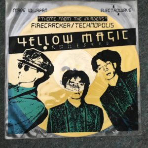 """IMG_3501 Yellow Magic Orchestra Classic 12"""" Vinyl """" Theme From The Invaders"""" Firecracker"""