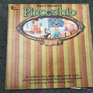 IMG_3510 Walt Disney's Story of Pinocchio 1962 Vinyl Record Album and Storybook 3905