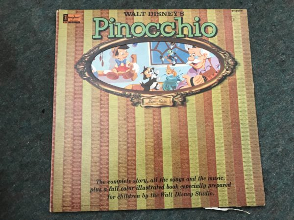 IMG_3510 Walt Disney's Story of Pinocchio 1962 Vinyl Record Album and Storybook 3905