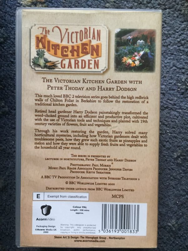 The Victorian Kitchen Garden peter Thoday, Harry Dodson [2000] [VHS]