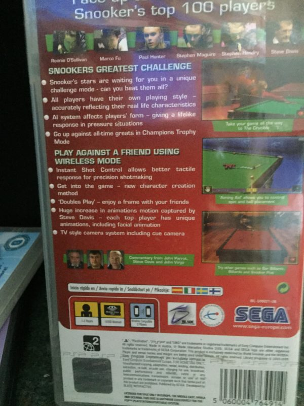 World Snooker Challenge 2005 [New and Sealed] Ronnie O'Sullivan the rocket
