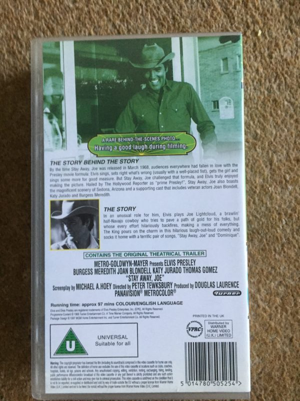 IMG_1799 The King Elvis aron Presley - Stay Away Joe VHS Pal