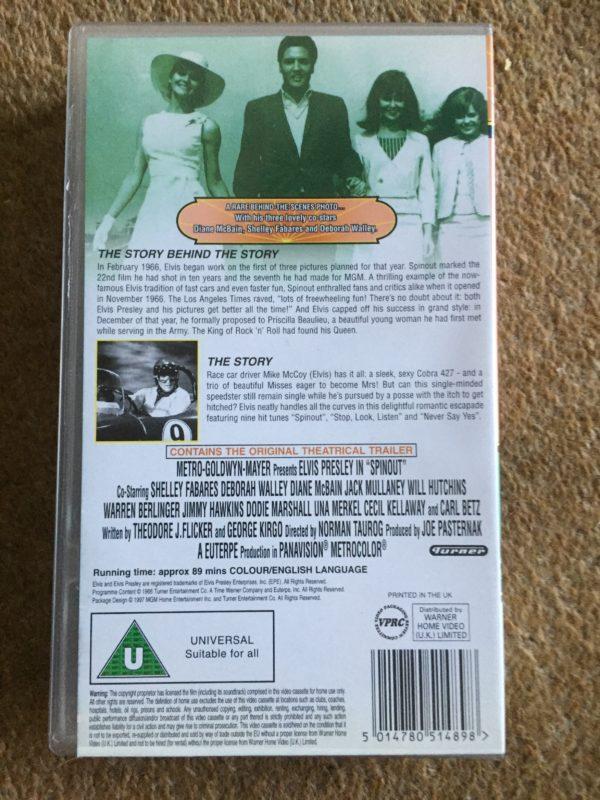 Elvis Presley- Spinout VHS Pal