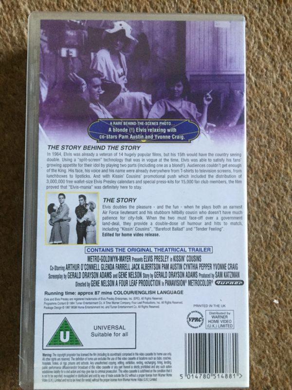 The King, Elvis aron Presley - Kissin' Cousins VHS Pal