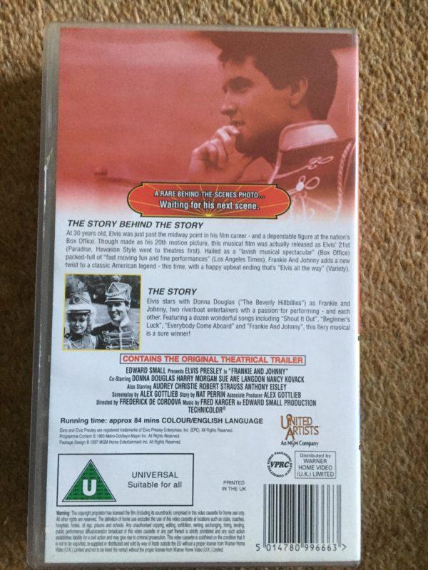 Elvis ARON Presley- Frankie and Johnny VHS Pal