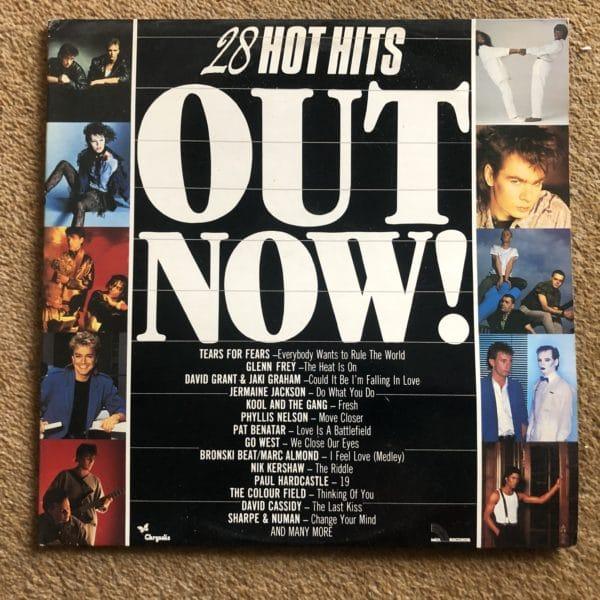 """OUT NOW! 28 Hot Hits.1985 12"""" Double Vinyl Album Gatefold LP. Chrysalis- (Mixed LP)"""