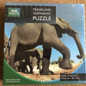 BBC Earth Travelling Elephants Puzzle 500 Piece [New and Sealed]