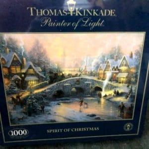 Thomas Kinkade Spirit of Christmas 1000 piece jigsaw puzzle [New & Sealed] use